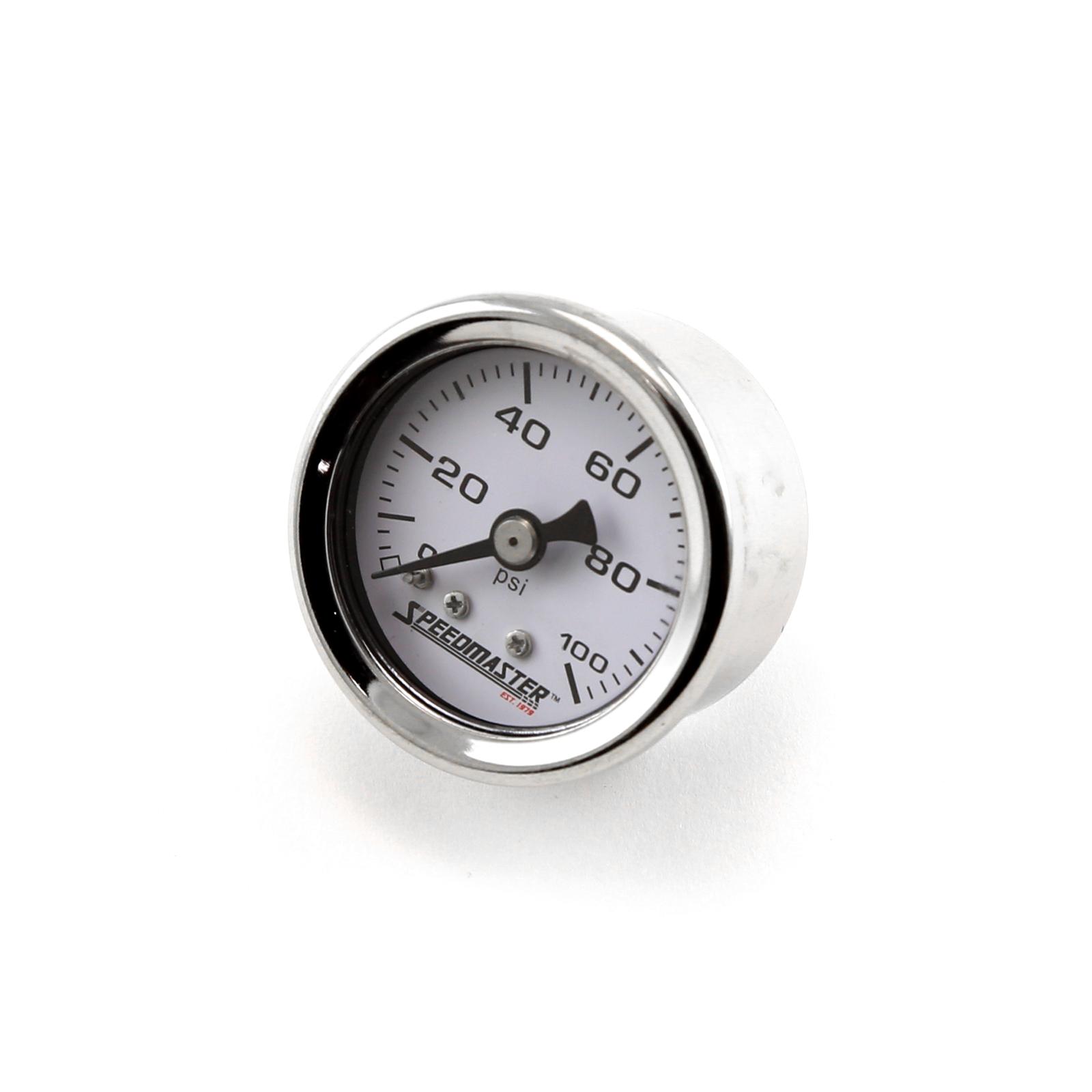 """1-1/2"""" 0-100psi Fuel Pressure Gauge (Non Liquid)"""