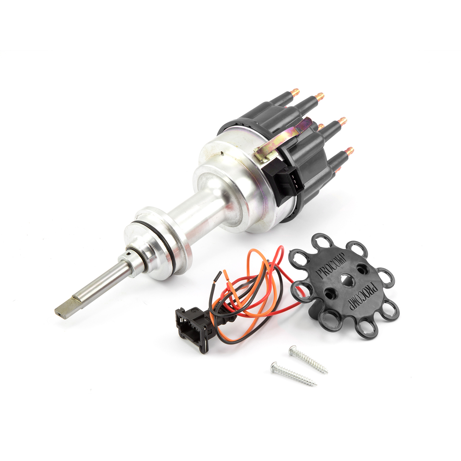 Mopar Chrysler SB 318 340 360 8020 Series Pro Billet Ready to Run Distributor [Black]