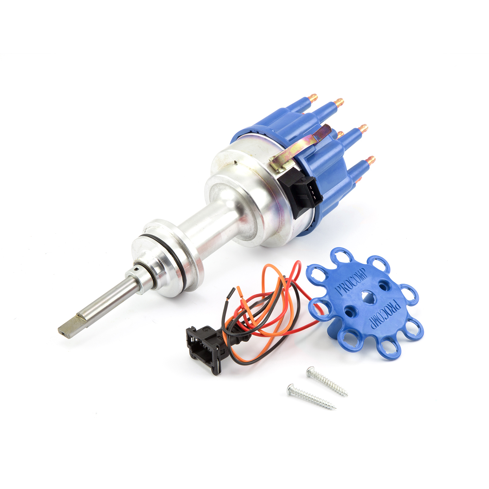 Mopar Chrysler SB 318 340 360 8020 Series Pro Billet Ready to Run Distributor [Blue]