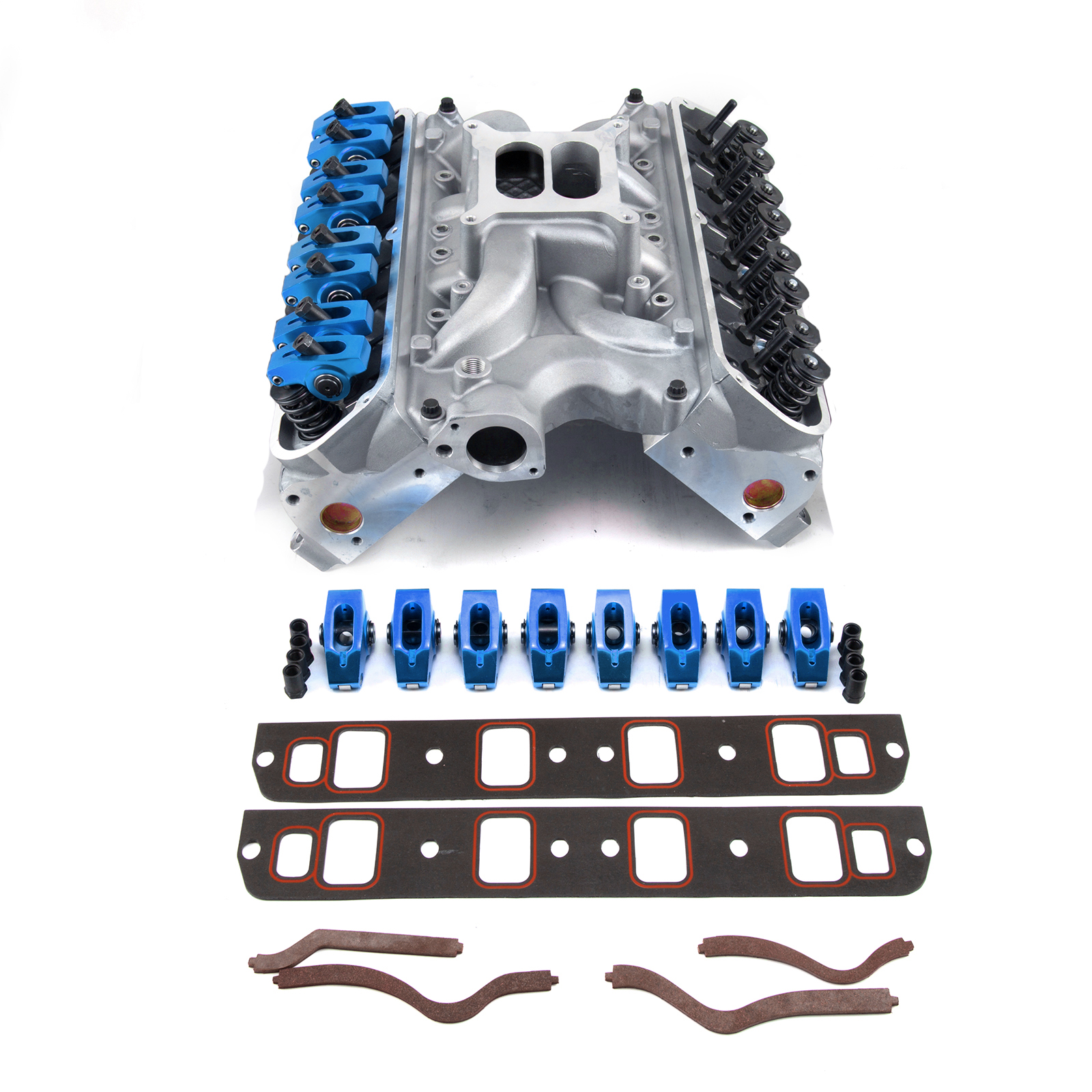 PCE® PCE435.1053 Ford SB 289 302 Windsor Hyd FT Cylinder Head Top End Engine Combo Kit